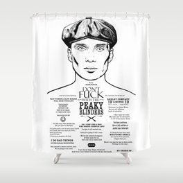Tom Shelby  Ink'd Series Shower Curtain