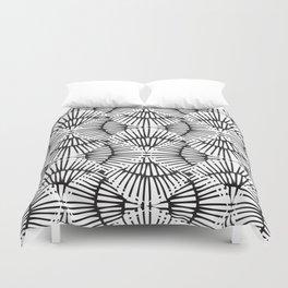 Basketweave-Ink Duvet Cover