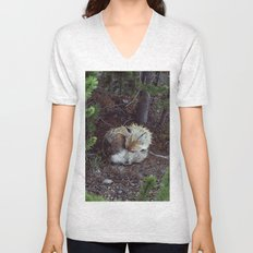 Sleeping Fox Unisex V-Neck