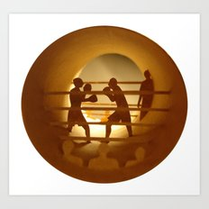 Boxing (Boxe) Art Print