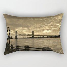 Riverfront At Dusk Rectangular Pillow