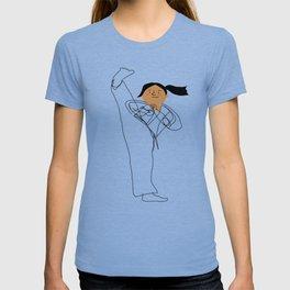 Positively Girly - Karate girl sketch T-shirt