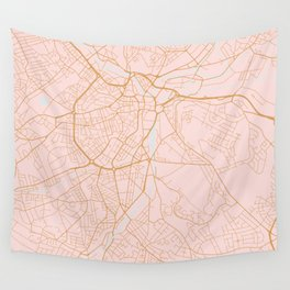 Sheffield map, England Wall Tapestry