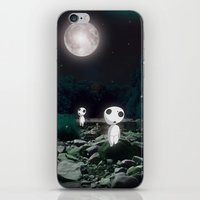 kodama iPhone & iPod Skins featuring Forest Spirits (Kodama)   by pkarnold + The Cult Print Shop