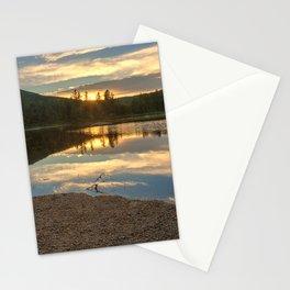 Lily Pond Sunset Stationery Cards