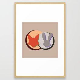 Nick and Judy Logo Design  Framed Art Print