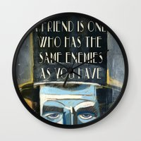 lincoln Wall Clocks featuring Lincoln  by Oliver Dominguez