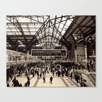 liverpool Canvas Prints featuring Liverpool Station by Roxana Lazăr