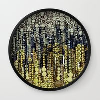fitzgerald Wall Clocks featuring :: Gray Gatsby :: by :: GaleStorm Artworks ::