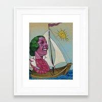 sailing Framed Art Prints featuring Sailing by busymockingbird