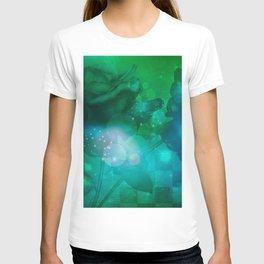 Beautiful roses in green colors T-shirt