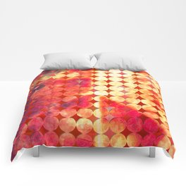Pattern of vine leaf circles Comforters