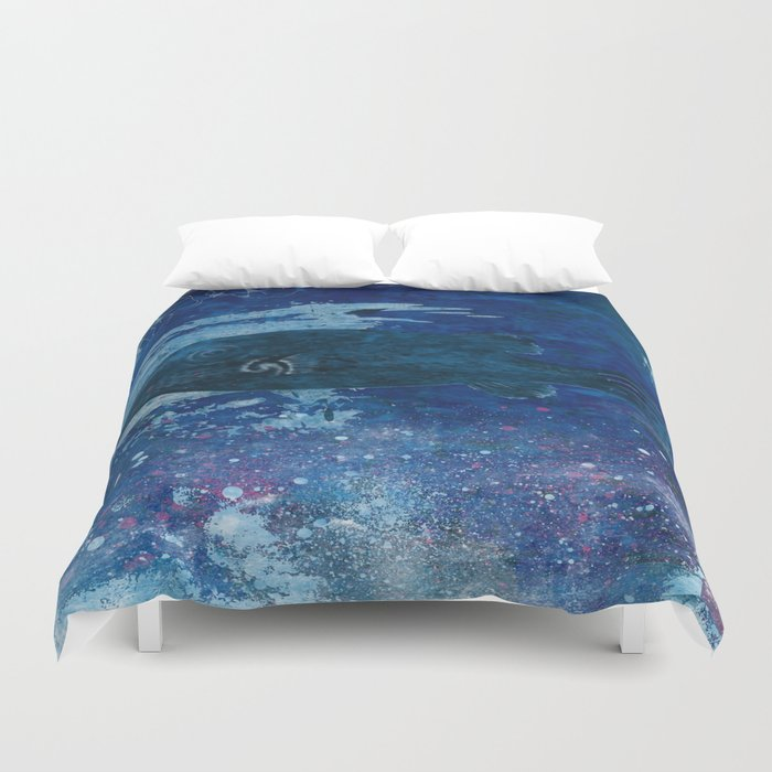 Cosmic fish, ocean, sea, under the water Duvet Cover