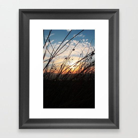 Sunset at the Lakes. Framed Art Print