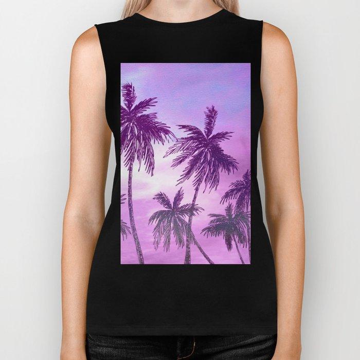 Palm Trees 3 Biker Tank