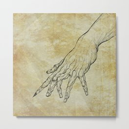 The Sixth Finger of the Writer Metal Print