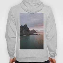 Iceland Mountain Beach Sunrise - Landscape Photography Hoody