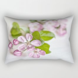 delicate pink Apple Blossom close up Rectangular Pillow