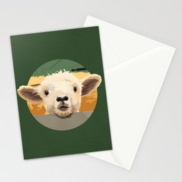 Sweet Lamb in the Barnyard Stationery Cards