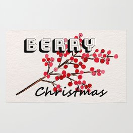 Happy berry christmas I Rug