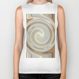 Distorted stripes in colour 3 Biker Tank