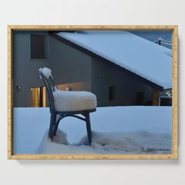 Snowy chair Serving Tray