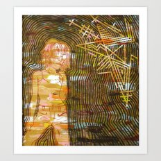 Dissonant Daphne and the Anechoic Star Art Print