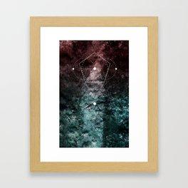 Rhombus Moon Texture Geometry Framed Art Print
