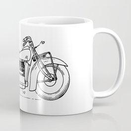 Motorcycle Patent Art Coffee Mug