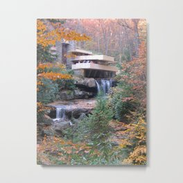 Fallingwater in the Fall Metal Print