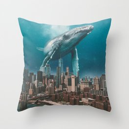 LONLEY VISITOR Throw Pillow