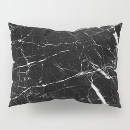 Black and White Marble Pillow Sham