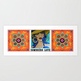 Sombrero Love Art Print