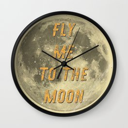 Fly me to the Moon - A Hell Songbook Edition Wall Clock