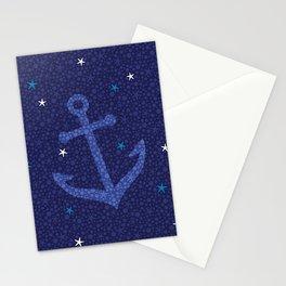 Starfish Anchor - Navy Stationery Cards