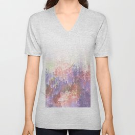 Frozen Magical Nature - Peach and Ultra-Violet Unisex V-Neck