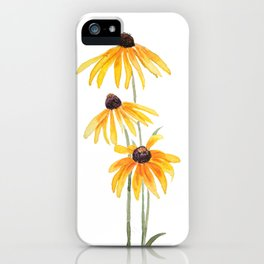 3 yellow gloriosa daisies iPhone Case