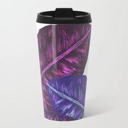 Tropical Leaves - Ultra Violet 1 Travel Mug