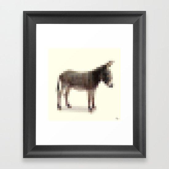 Censored Donkey Framed Art Print