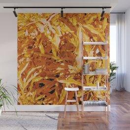 Yellow Garden Flowers Wall Mural