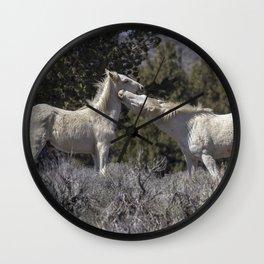 Wild Horses with Playful Spirits No 7 Wall Clock