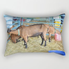 Family of Domestic Goats Rectangular Pillow