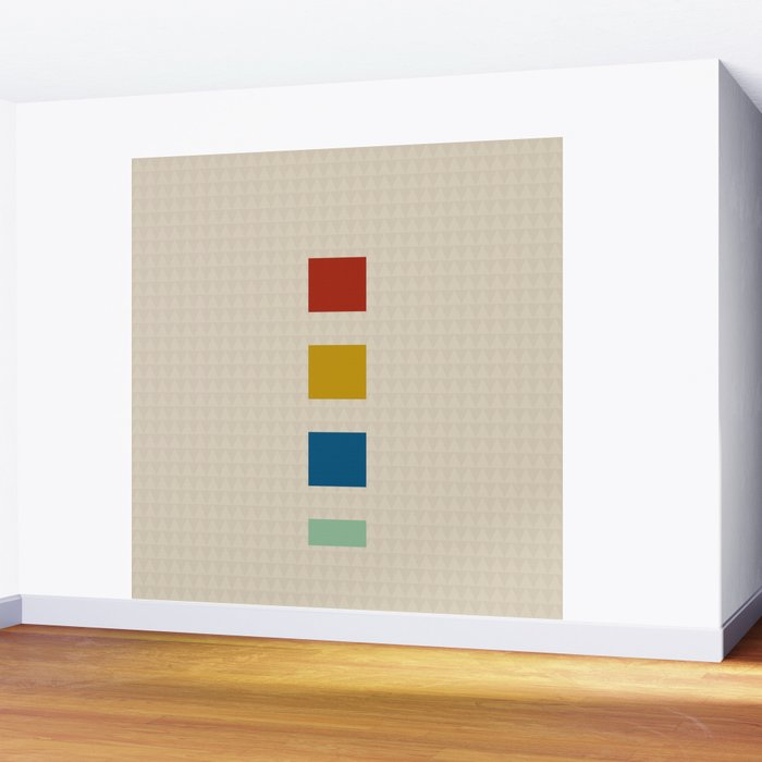 four elements || tweed & primary colors Wall Mural