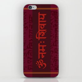 Om Namah Shivaya iPhone Skin