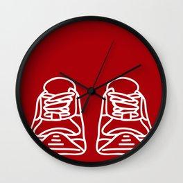 Sneaker Doodle #4 Wall Clock