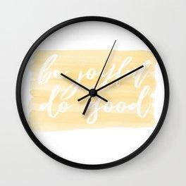 Be Joyful, Do Good Wall Clock