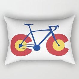 Colorado Flag Bicycle Rectangular Pillow