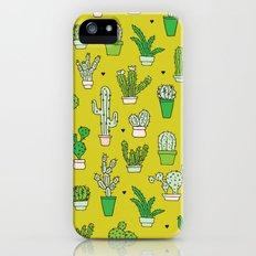 Botanical dessert cactus pattern iPhone (5, 5s) Slim Case