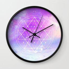 Sacred Geometry (Sri Yantra) Wall Clock