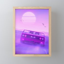 F40 Outrun Sunset Framed Mini Art Print